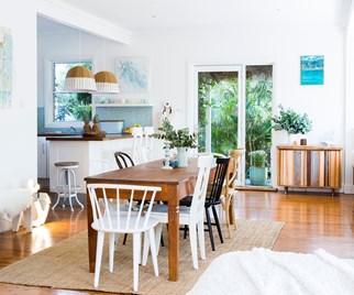Breezy open living beach house