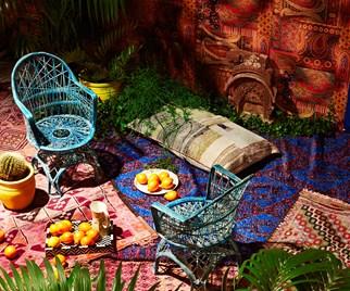 Moroccon-styled backyard