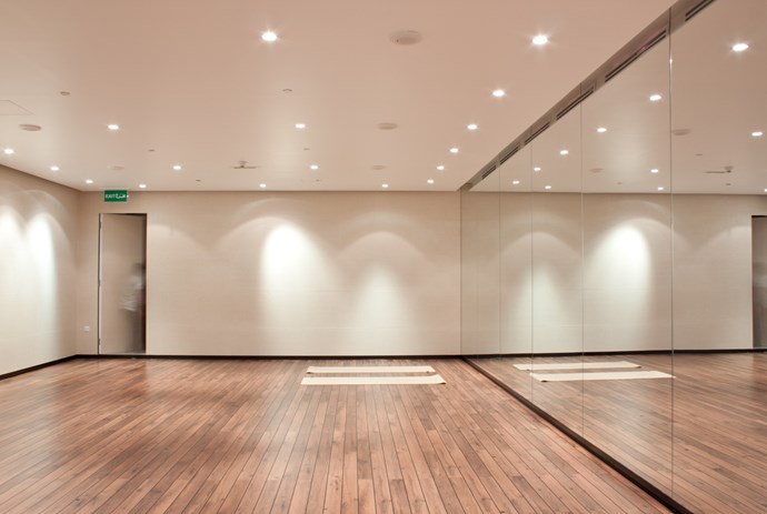 **The Yoga Center** Due to socio-cultural influences in Kuwait, the studio had to be a discrete and private space for women to exercise. Photo: Rashed Alfoudari.