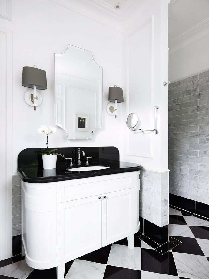 "The bathrooms continue the black and white classic theme. Brodware Neu England **tapware** from [Sydney Tap Centre](http://surry-hills.cylex.com.au/company/sydney-tap-centre-the-15281075.html/?utm_campaign=supplier/|target=""_blank"")."