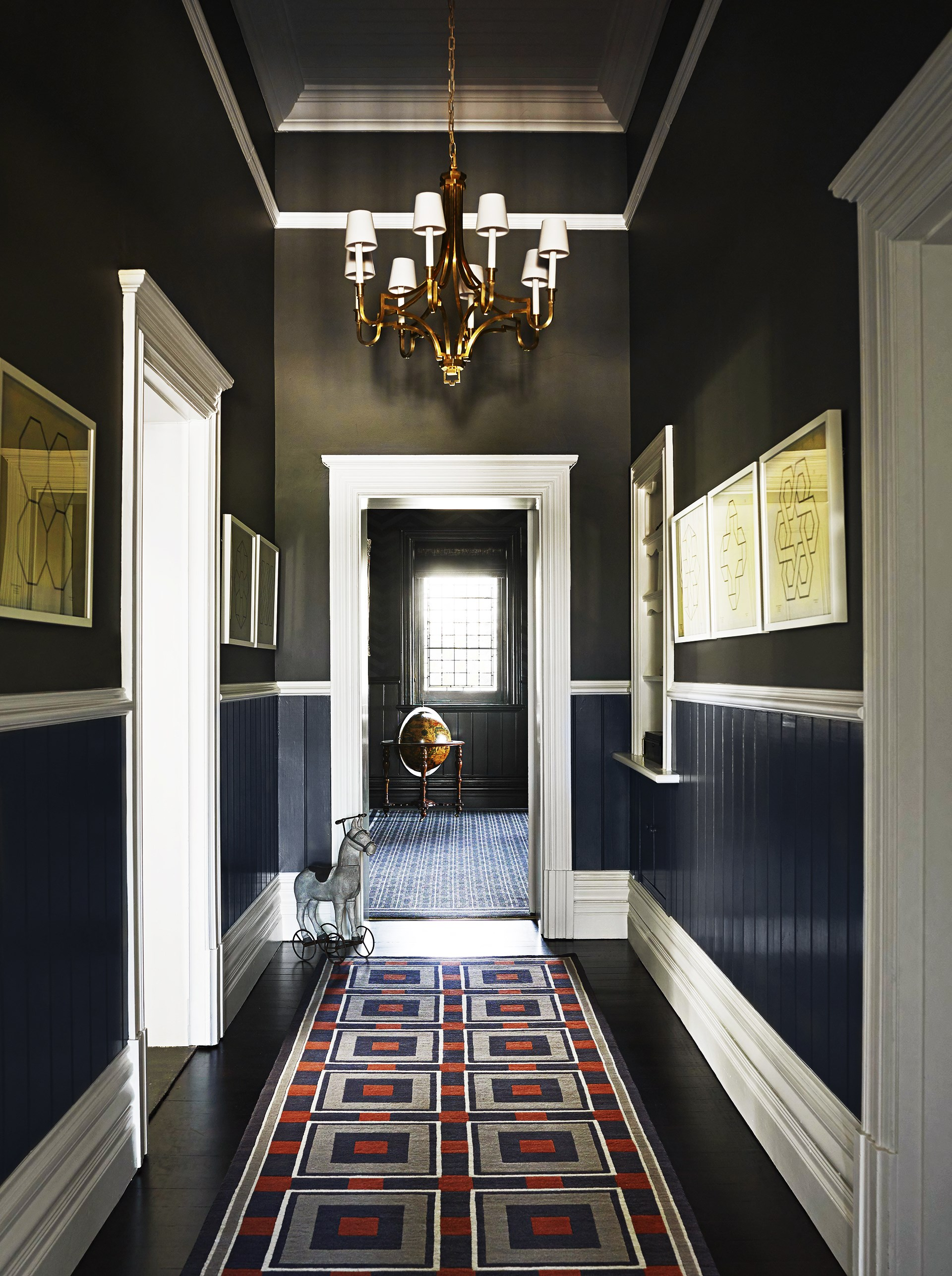 The original features of this [1880s homestead](http://www.homestolove.com.au/horse-stud-homestead-country-elegance-2416) which include cornices, dado rails, panelling and moulding are contemporised with a lick of paint. *Photo: Anson Smart*