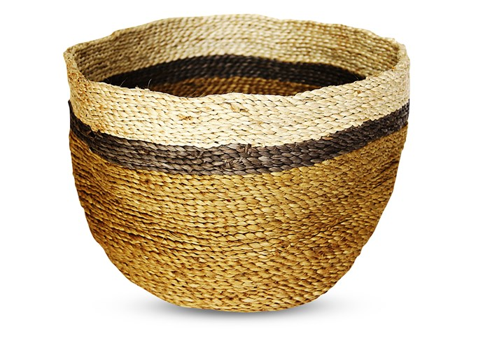 "**Baskets**  Jute bowl, $65 from [The Dharma Door](http://www.thedharmadoor.com.au/?utm_campaign=supplier/|target=""_blank"")."