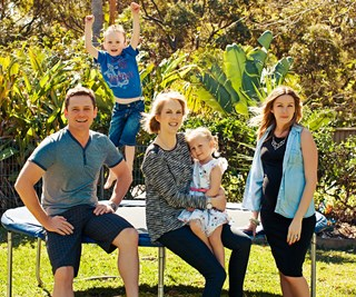 Home owner family and stylist Kerrie-Ann Jones