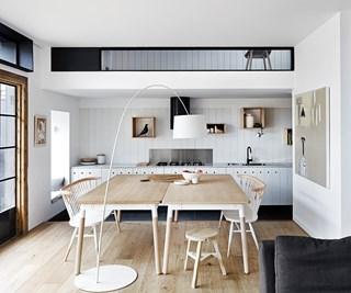 Melbourne minimalist open plan dining room