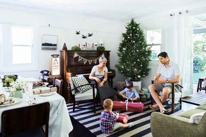 """A family enjoys Christmas traditions in their [renovated cottage in Sydney's Inner West](http://www.homestolove.com.au/gallery-catherine-and-pauls-country-style-home-2536