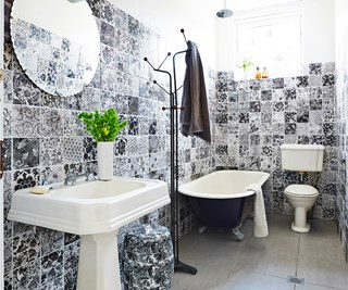 Tiled bathroom renovation