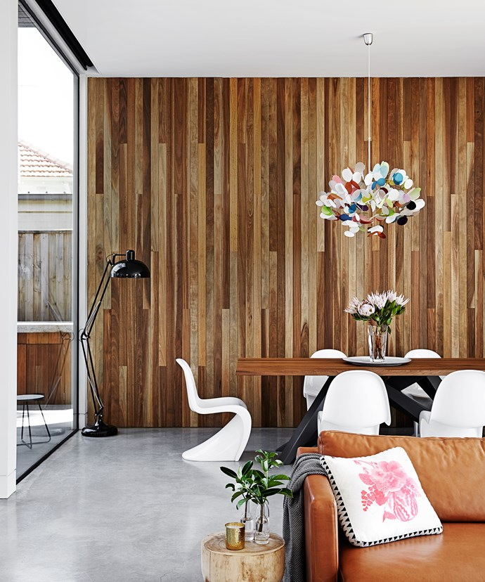"""""""I was influenced by industrial and contemporary aesthetics, with a touch of Scandinavian style when it came to the interior,"""" Johanna says. """"I just chose everything that I love from all the interior styles – and put them together and it seems to work."""""""