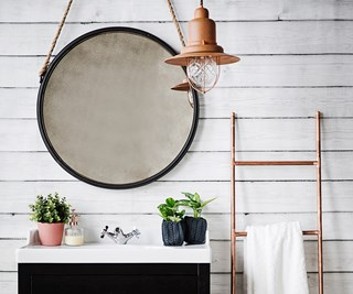 DIY copper towel rail
