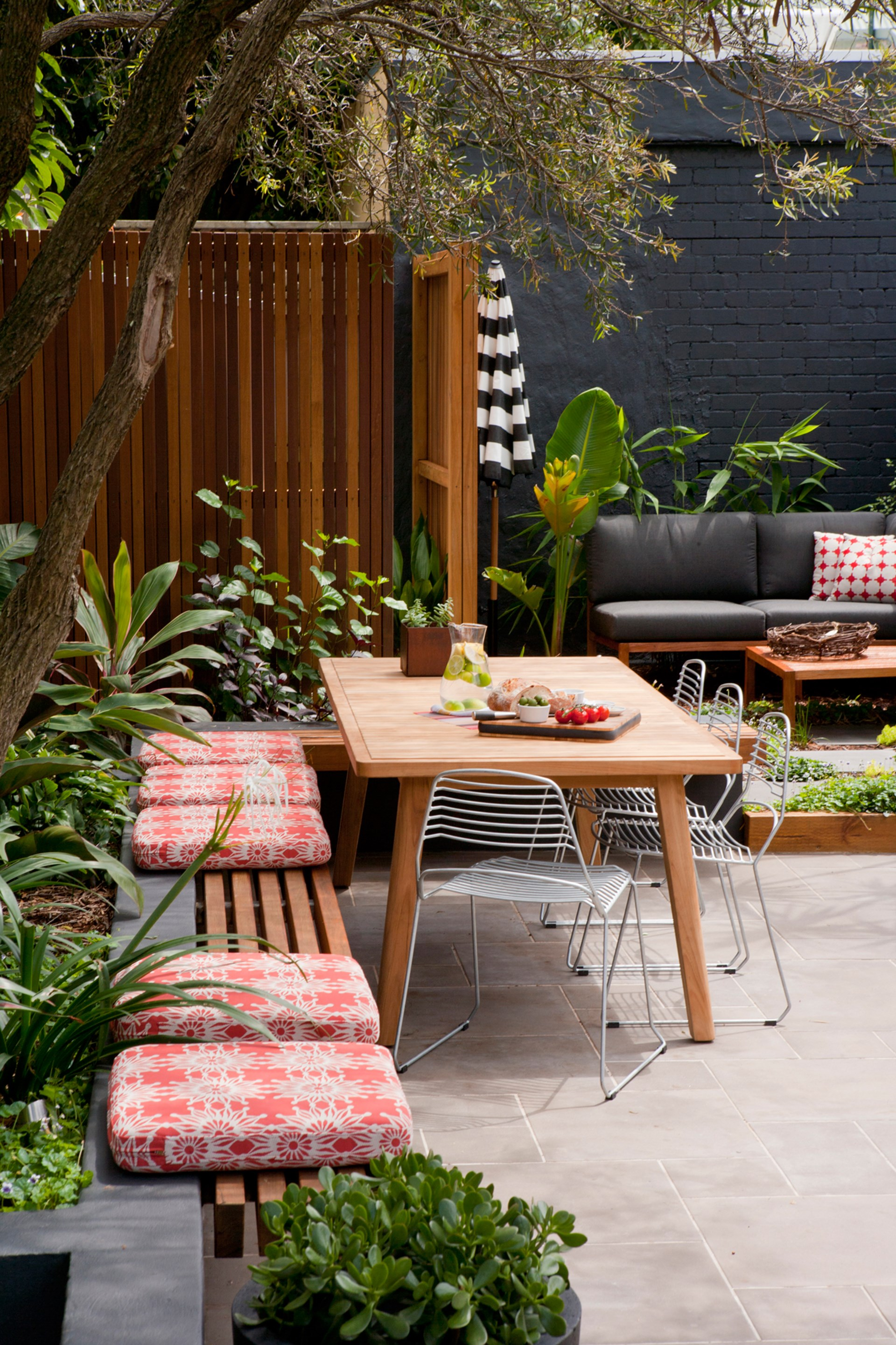 """**Built-in furniture is the future** – use quality materials and construct a built-in feature that will last forever and make your garden infinitely more useable. [Take a tour of this inner-city backyard transformation](http://www.homestolove.com.au/inner-city-backyard-transformation-3581