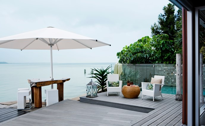 "[ModWood](http://www.modwood.com.au/?utm_campaign=supplier/|target=""_blank"") decking, a mix of recycled timber and plastic, was chosen for its durability and [sustainability](http://www.homestolove.com.au/take-a-step-closer-to-sustainable-living-3075/?utm_campaign=supplier/