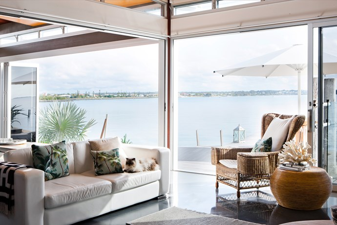 The desire for indoor-outdoor living had Colleen incorporate bifold doors that can be open almost year-round. She's added external heaters to be used when it's cool.