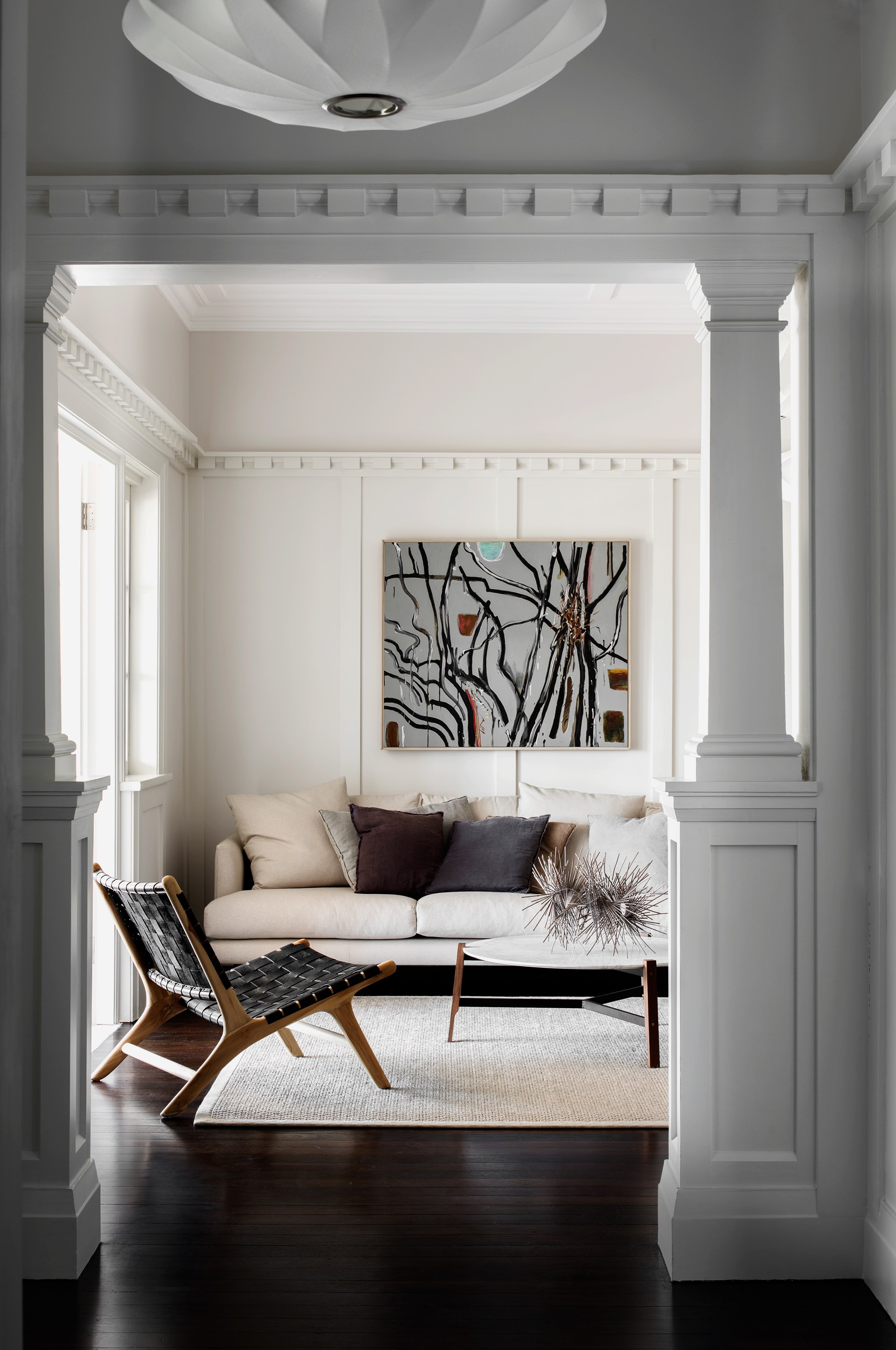The heritage mouldings of this [iconic Palm Beach sandstone and timber bungalow](http://www.homestolove.com.au/sandstone-house-restored-to-former-glory-3731) have been restored to their former glory. *Photo: Nicholas Watt*