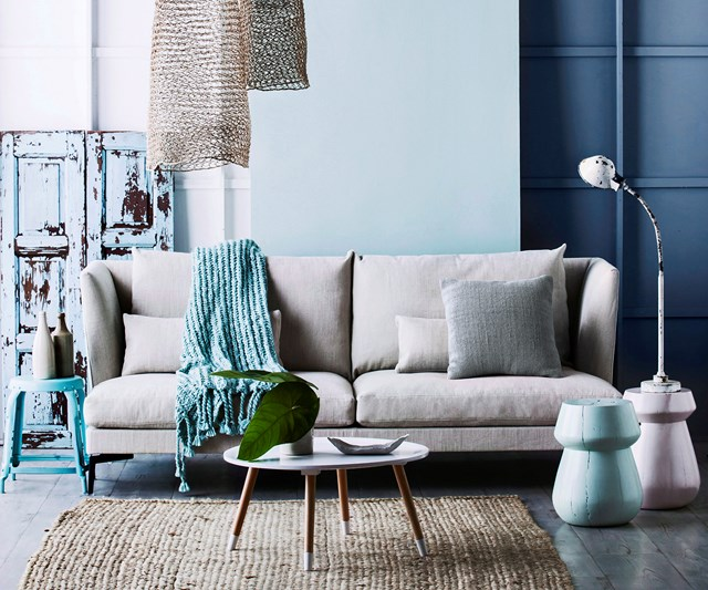 Muted blue tones for winter