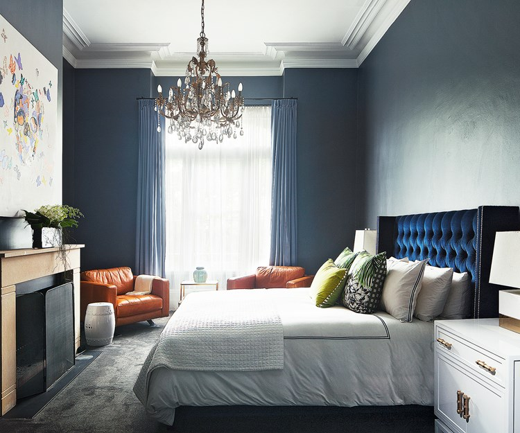 Moody hues for a bedroom sanctuary
