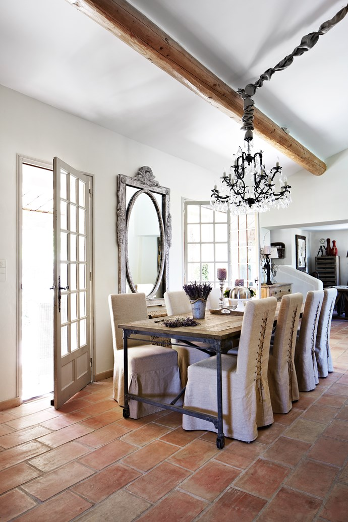 Built in the Provençal style, the villa is typical of the local architecture with elaborate use of stone, high ceilings with large beams and shuttered doors and windows.