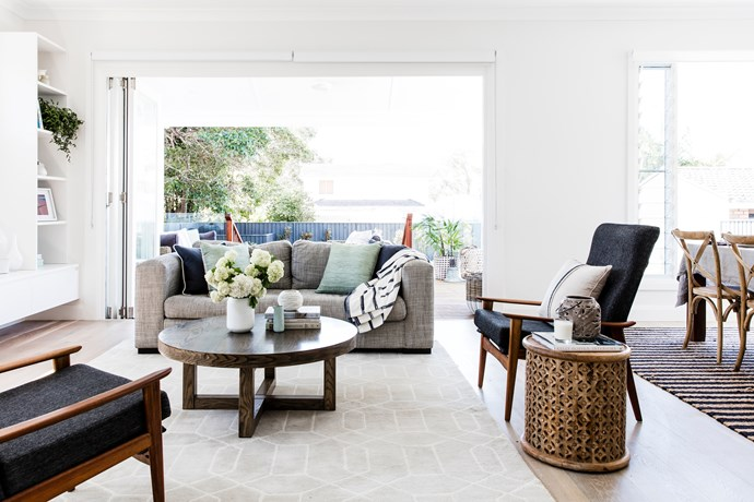 The living are should feel homely and be filled with light. Photo: Maree Homer / bauersyndication.com.au