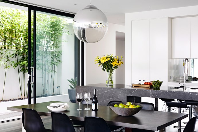The dining space should be clean, clear and ready to be sat down at by potential buyers – some people like to get up close and personal.