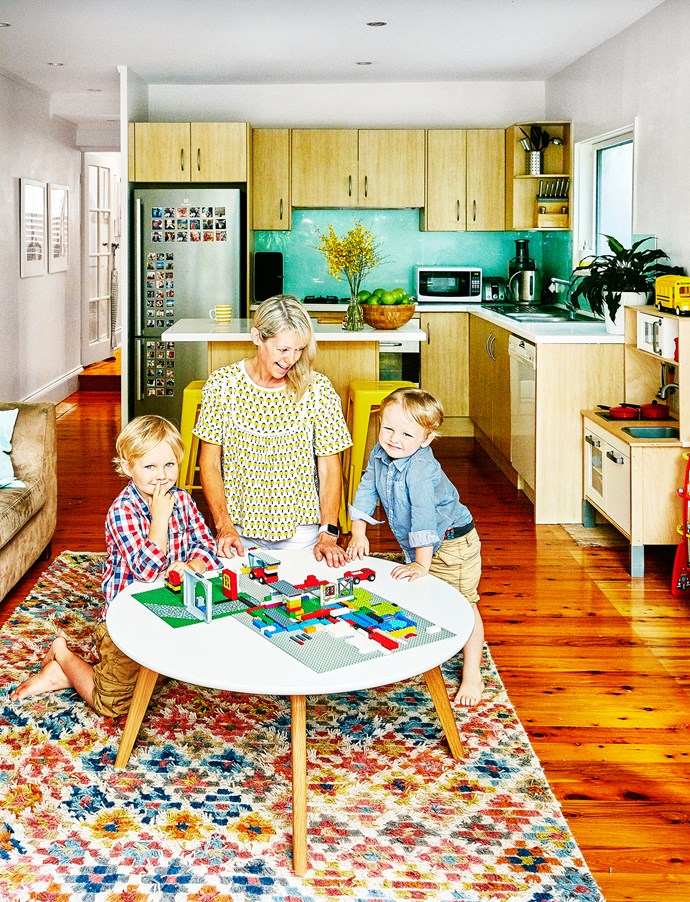 """Kirsty's home has lots of child-friendly furniture, like this Jolanda coffee table from [Interior Secrets](https://www.interiorsecrets.com.au/