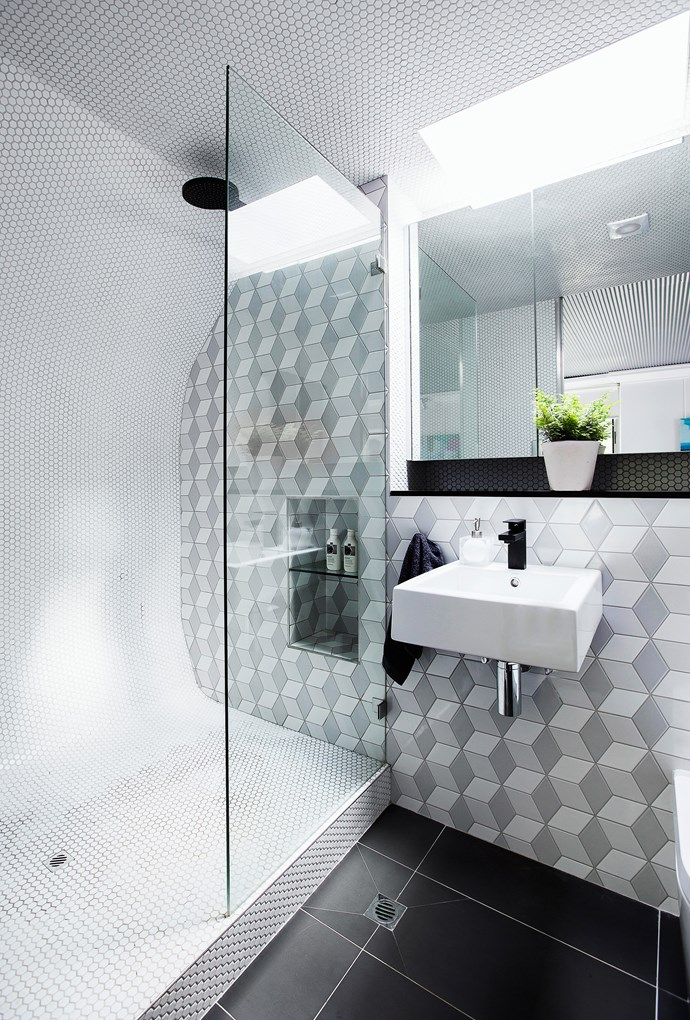 **Throw a curveball.** In a tight space, think outside the box. A curved shower recess helps to create depth within the whole room and will give you more space to enjoy a relaxing shower. *Photo: Maree Homer / bauersyndication.com.au*