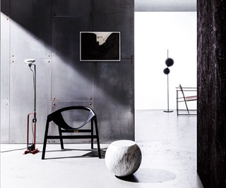 Brutalist style interior