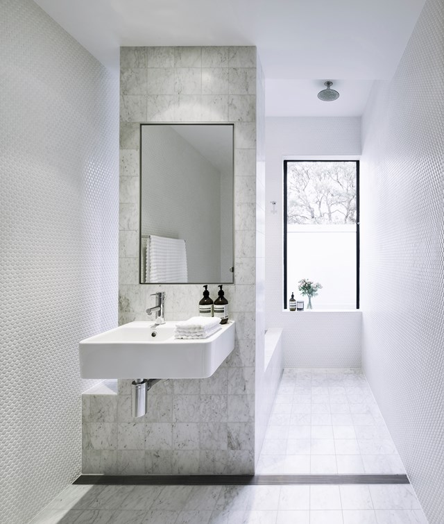 "Maximise your bathrooms' potential with these [four space savvy designs](http://www.homestolove.com.au/4-space-savvy-bathroom-layouts-4136|target=""_blank"")."