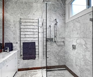 Marble bathroom renovation