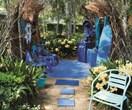 Art in the gardens at Eden nursery