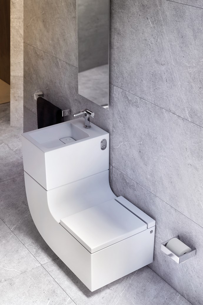 "**Shop for sustainable statement pieces.** Worried that reclaimed materials won't quite fit in with your luxe minimalist bathroom? Don't be. Impressive designs still exist in the sustainable world. Take this stylish [Roca W+W Integrated Washbasin](http://www.reece.com.au/bathrooms/products/roca/roca-w-w-integrated-washbasin-9505427|target=""_blank""