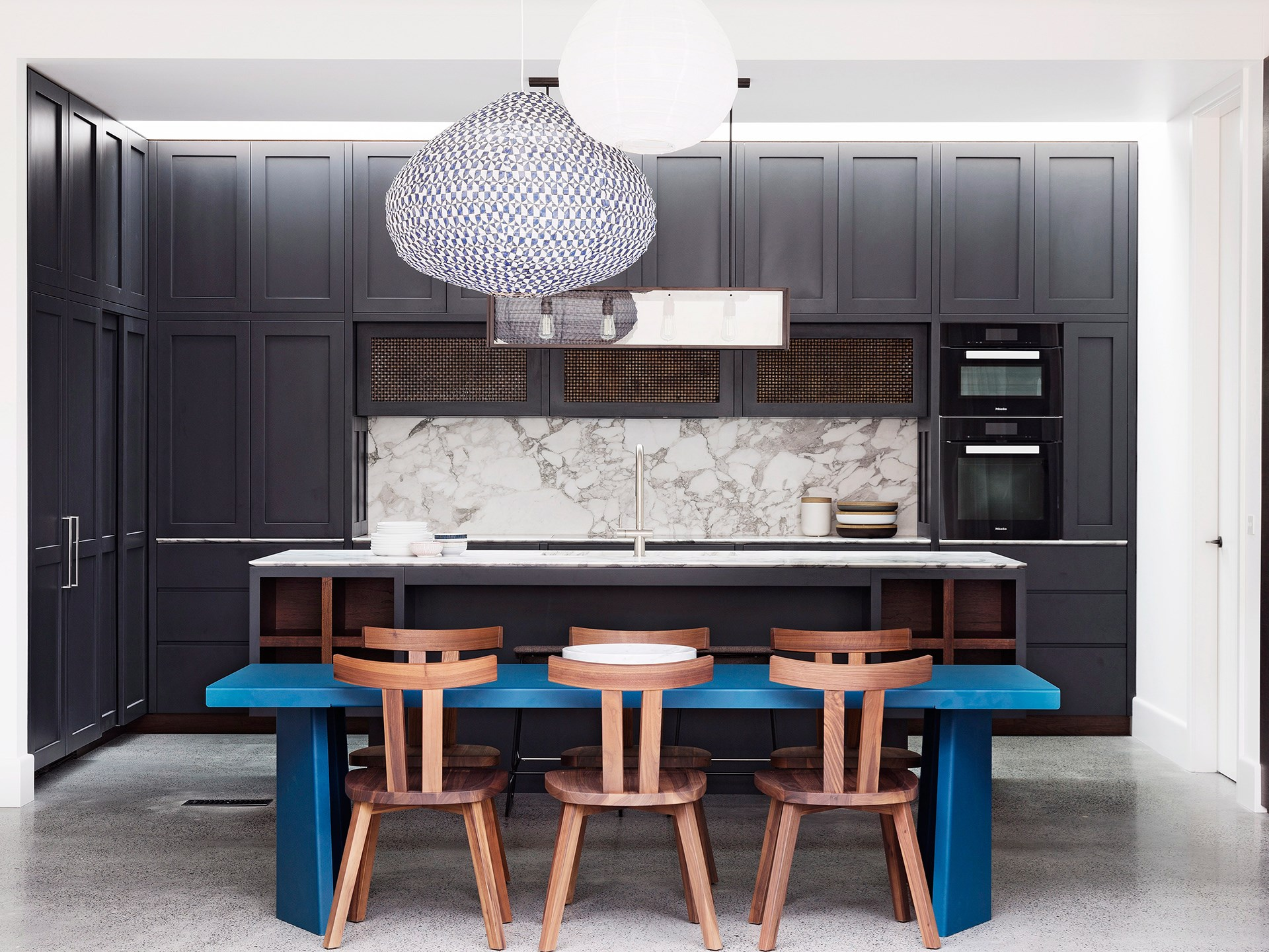 An integrated oven is generally built into your kitchen cabinets at eye level, which is a convenient height for getting hot dishes in and out. *Photo: Justin Alexander / bauersyndication.com.au*