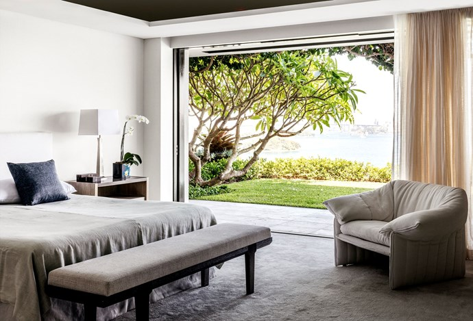 With panoramic views of Sydney Harbour, the master bedroom within this [Point Piper property](http://www.homestolove.com.au/harbourside-heaven-point-piper-home-with-stunning-water-views-3102) is oh-so dreamy. *Photo: Felix Forest*
