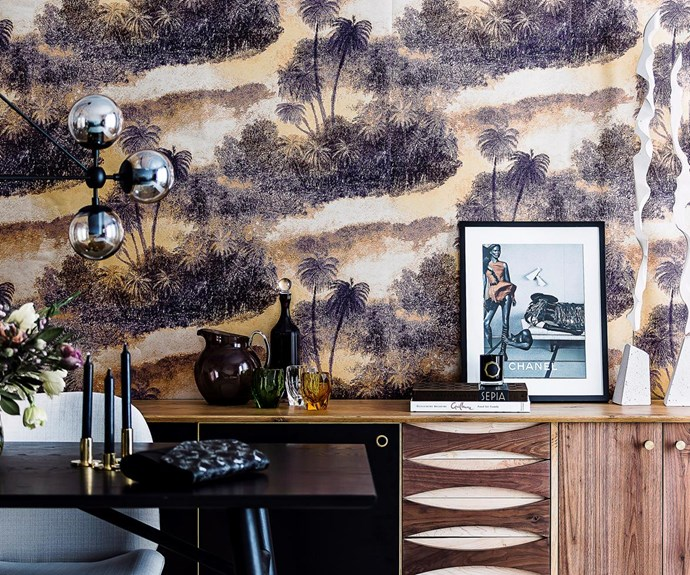 A feature wall always makes a big impact. Make use of bold, abstract motifs to stay on-trend in 2017. Photography: Maree Homer / bauersyndication.com.au