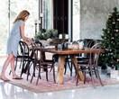 Four festive table settings