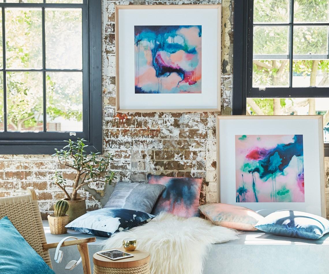Watercolour interiors