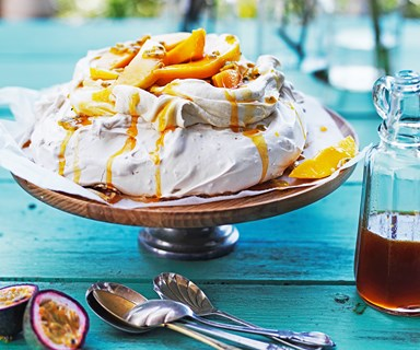 Christmas pavlova with mango & passionfruit