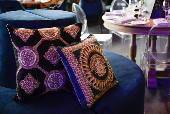Opulent cushion designs - crafted from the brand's [Constantina collection](https://www.warwick.com.au/products/SMSE19501) - added serious luxe factor.