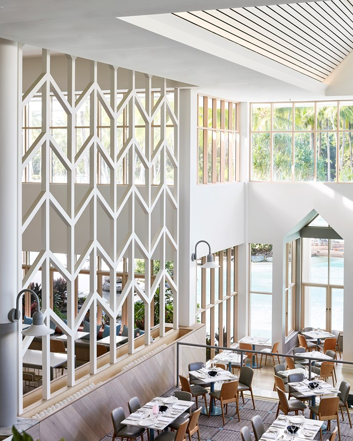 The Hawaiian-Australian aesthetic is accented with sophisticated fittings.