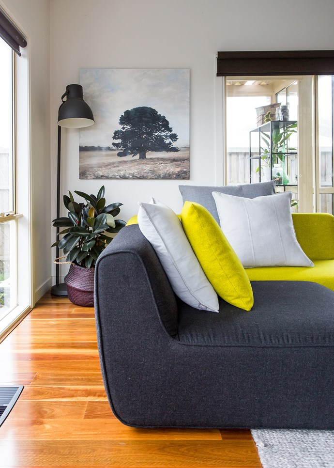 """Pops of colour throughout the home add sense of life. """"I can't live without colour! It adds life and energy to a space"""", says Paula."""
