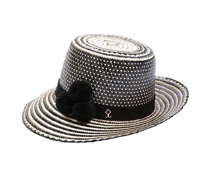 Ayeshu straw hat, about $399, [Yosuzi](http://www.yosuzi.com/).