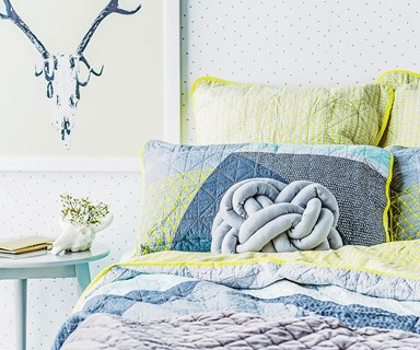 DIY knot cushion