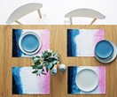 DIY dip-dyed placemats