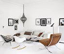A monochrome home with a global influence