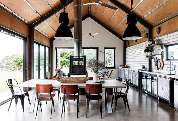 The family took charge of the interiors, raiding catering and trades suppliers for unique and cost-effective furnishings.
