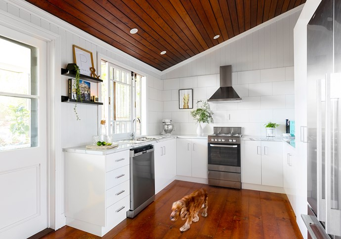 They retained the original floorplan but created space by removing a triangle island bench and overhead cupboards.