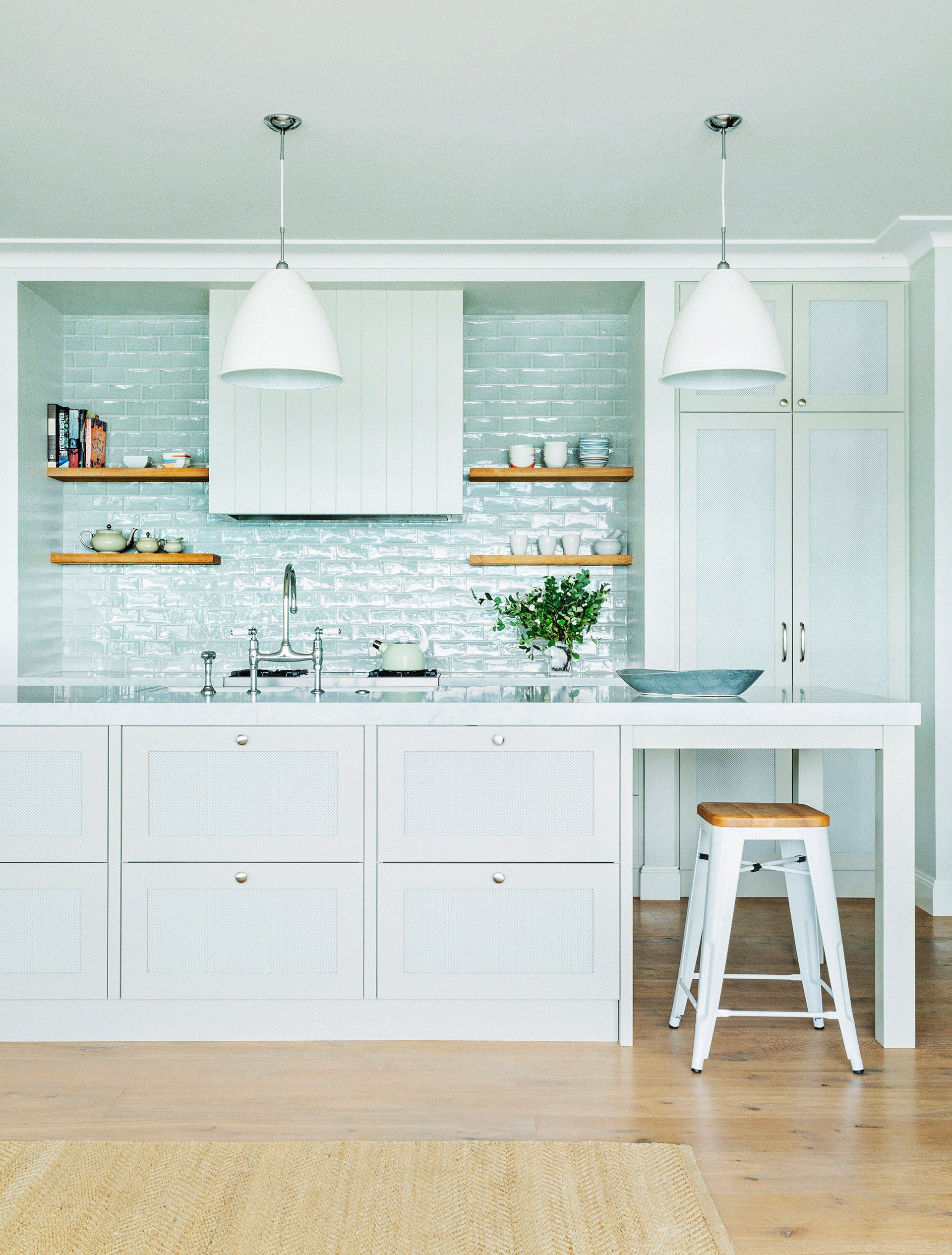 This kitchen is the creation of [Kate Bell Interior Design](http://katebelldesign.com/). We hunted down products that could fit in this fresh modern-country vibe. Shop the look!
