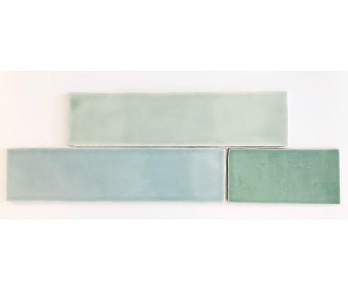 Manual Menta ceramic wall tile (150x75mm), $111/m2, and Manual Cement ceramic wall tile (150x75mm), $116/m2, [Amber Tiles](https://www.ambertiles.com.au/).