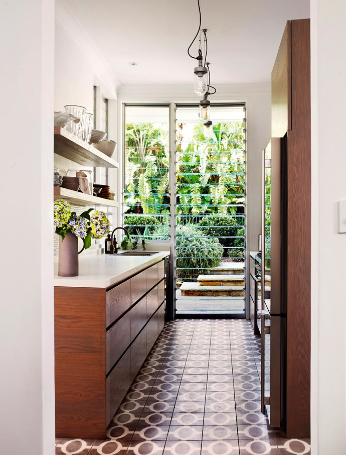 "A galley kitchen by [interior designer Justine Hugh Jones](http://justinehughjones.com/|target=""_blank""