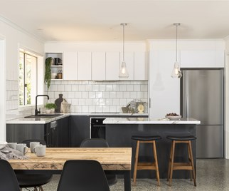 stylish flat pack kitchen