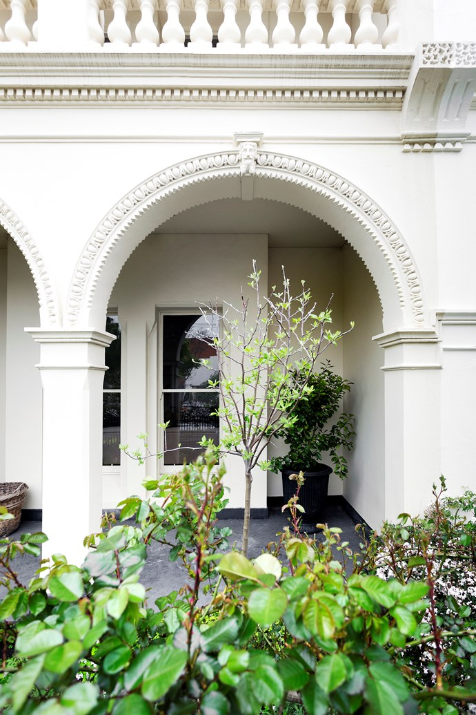"Exquisite ornamentation and a classical sense of symmetry define the facade of this 19th-century Melbourne home. Landscape design by [Julian Ronchi Garden Design & Nursery](http://www.julianronchi.com.au/|target=""_blank""