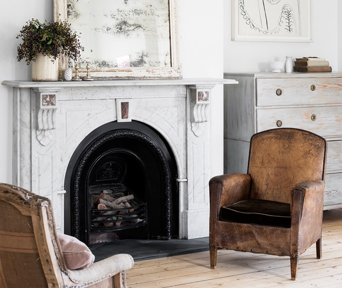 Mix antiques with new pieces to add personality to your home. *Photo: Martina Gemmola*