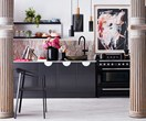 A bold kitchen with a feminine touch